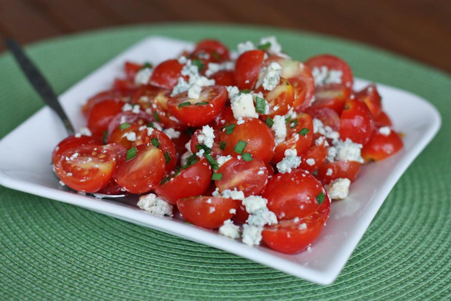 Cherry Tomato and Blue Cheese Salad Recipe | AggiesKitchen.com # ...